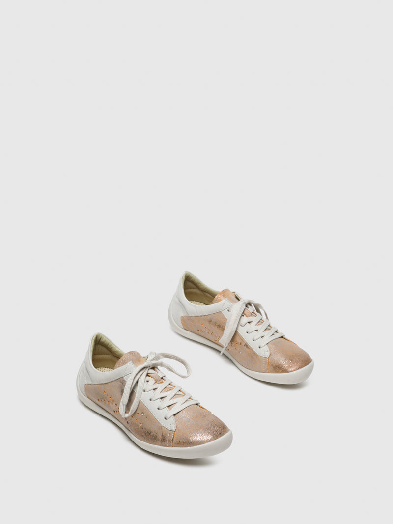 SandyBrown Lace-up Sneakers