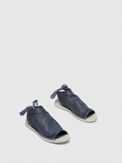 SOFTINOS Navy Flat Sandals