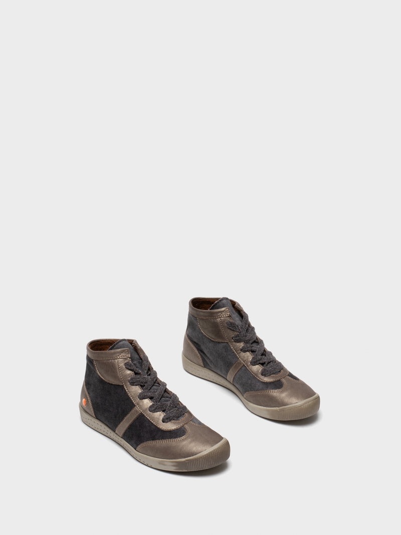 SOFTINOS Gray Lace-up Trainers