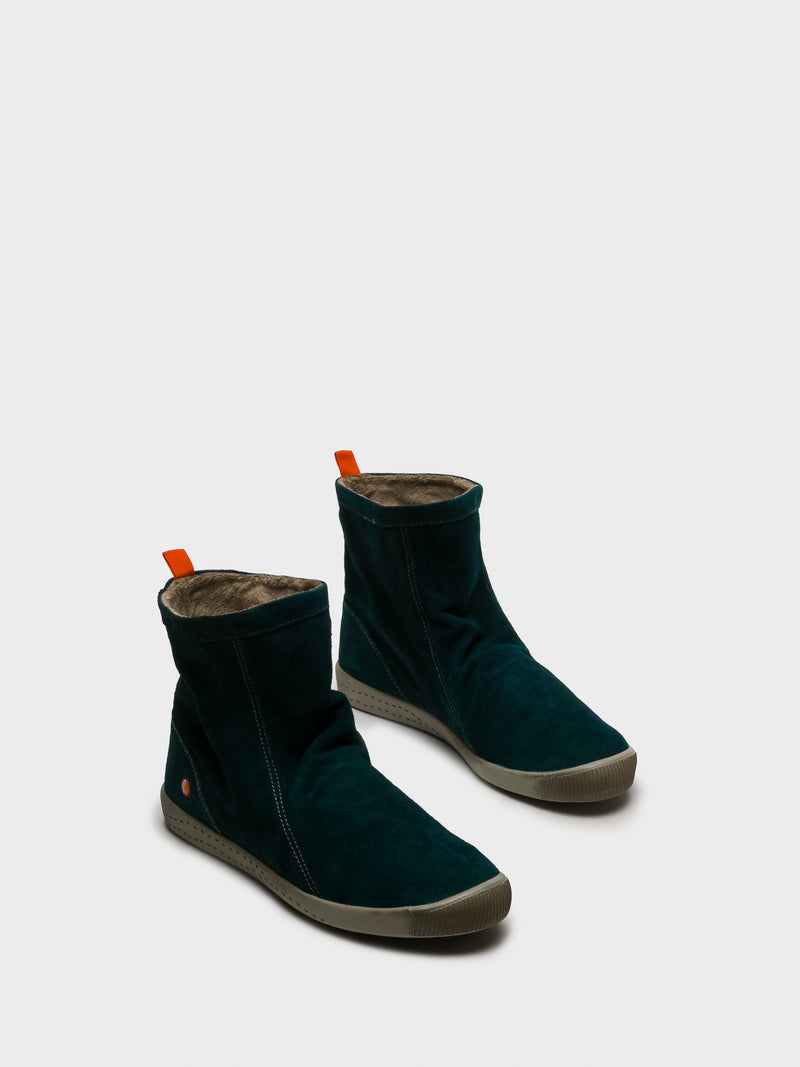 DarkGreen Sock Ankle Boots