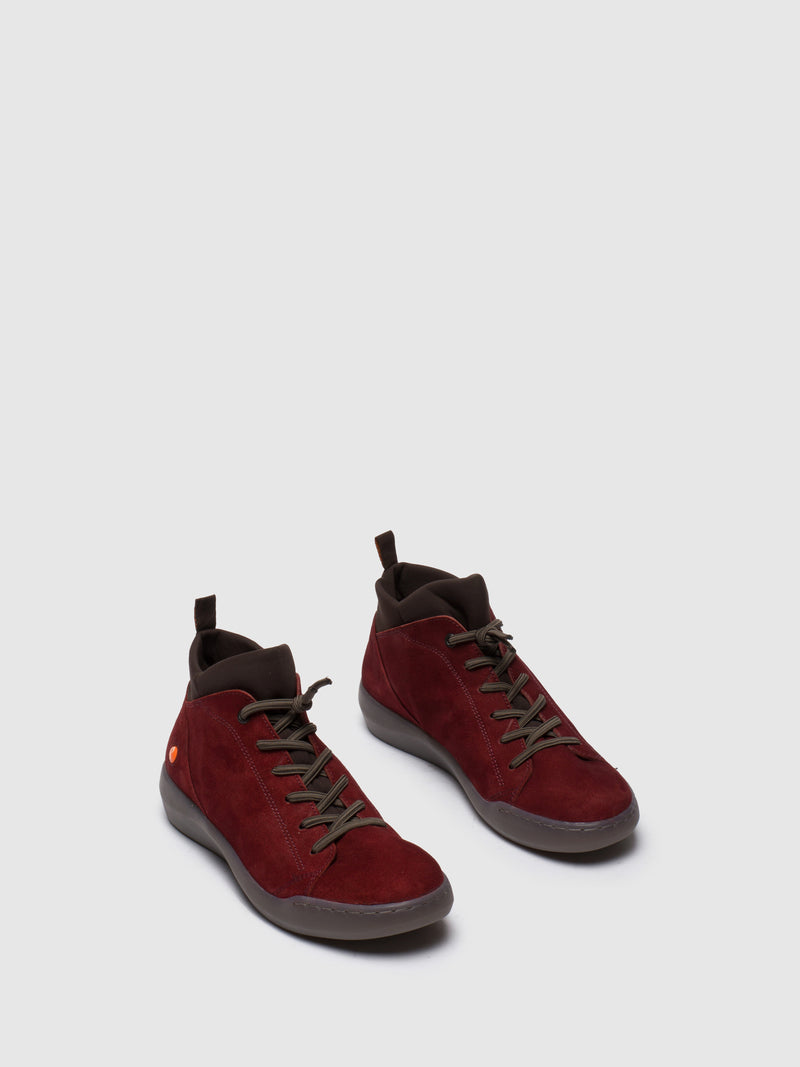 SOFTINOS DarkRed Hi-Top Trainers