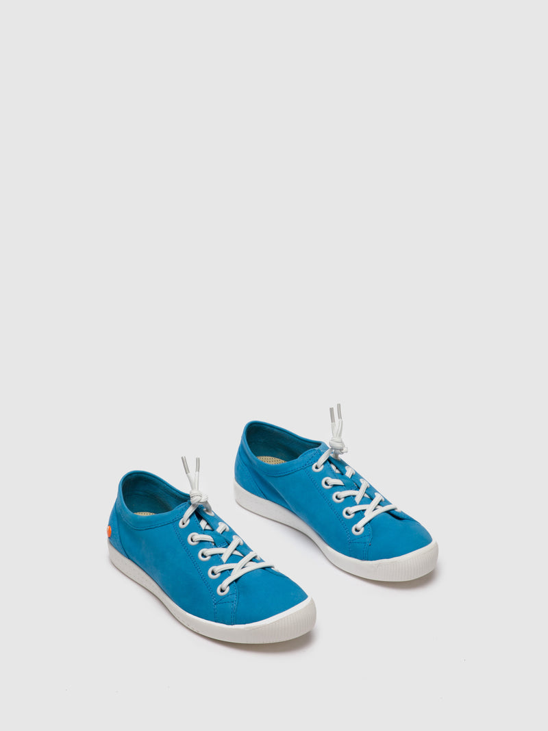 Cyan Lace-up Shoes