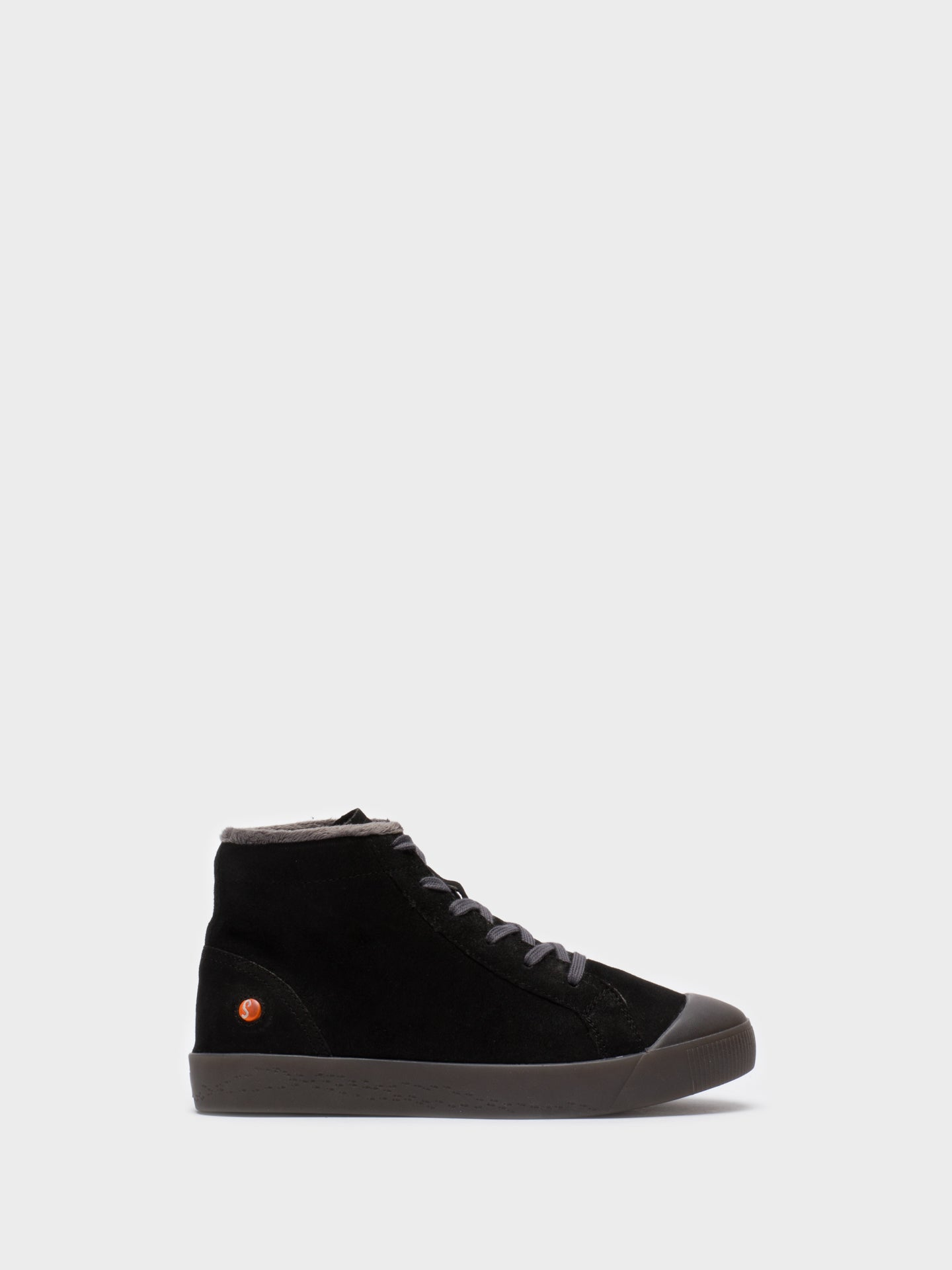 SOFTINOS Black Leather Hi-Top Sneakers