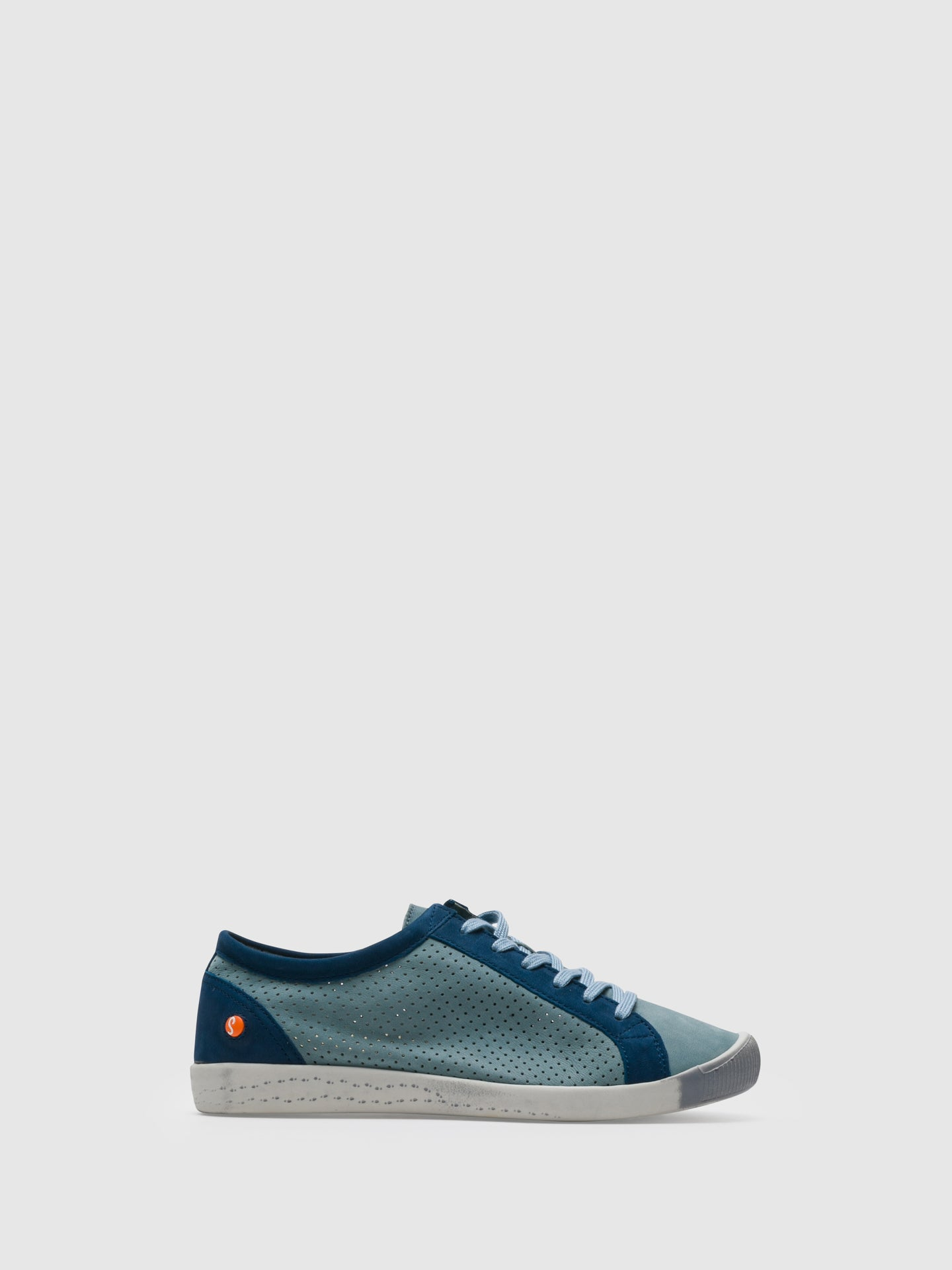 Softinos Blue Lace-up Sneakers