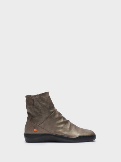 SOFTINOS Gray Zip Up Ankle Boots
