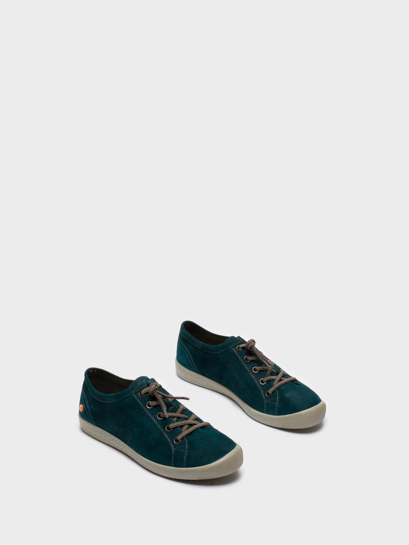 DarkGreen Low-Top Sneakers