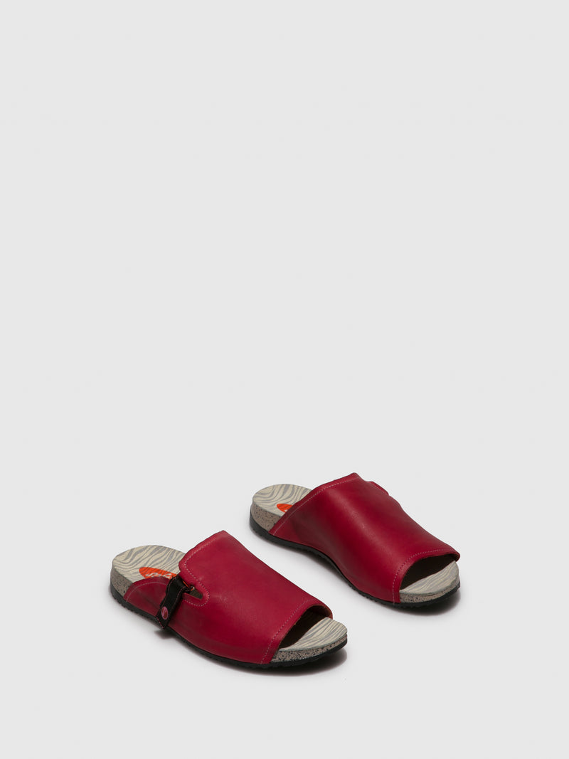 SOFTINOS Red Open Toe Sandals