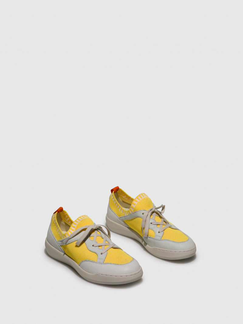 SOFTINOS Yellow Lace-up Shoes