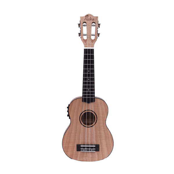 ALOHA-SOPRANO FO900E WITH PICKUP-FLAMED OKOUME