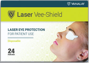 Laser Vee-Shield Disposable Patient Eye Protection - Box of 24 Pair