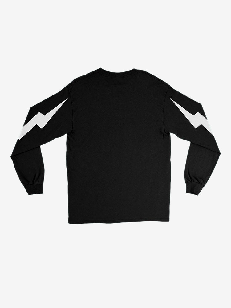 Bolt Logo Long Sleeve Tee in Black - Unisex