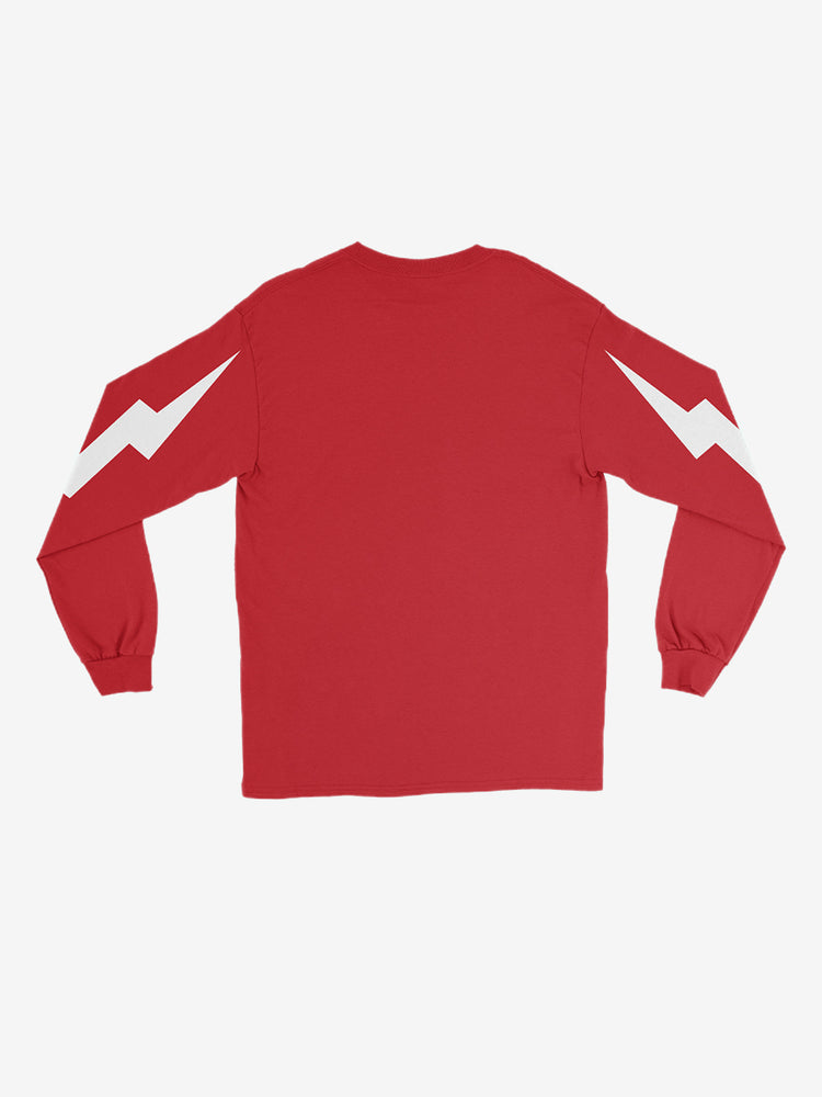 Bolt Logo Long Sleeve Tee in Red - Unisex