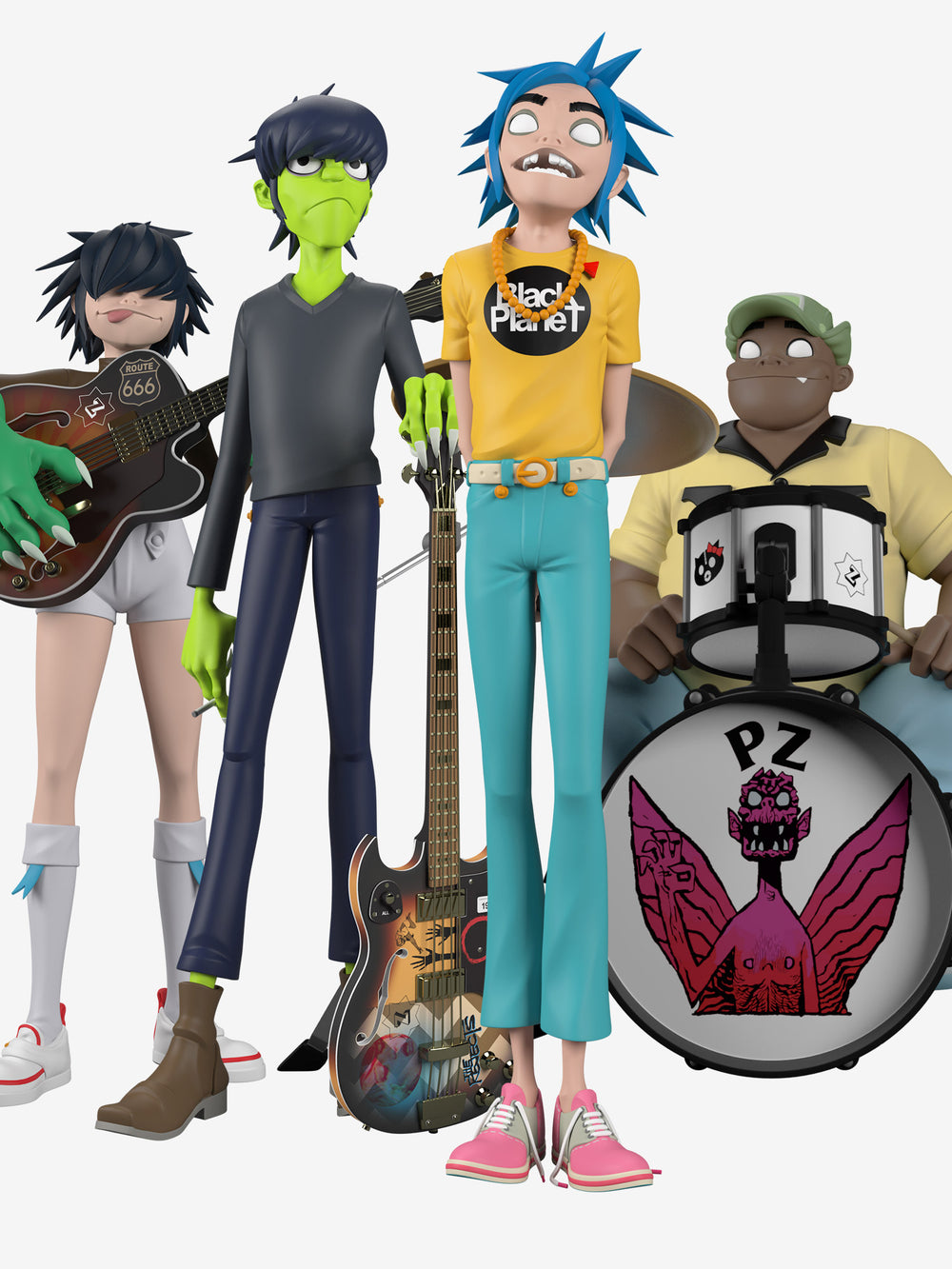 Superplastic x Gorillaz Song Machine Band Full Set [SHIPS APRIL]