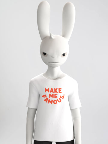 """Make Me Famous"" White Tee - Unisex [SHIPS MAY 2020]"