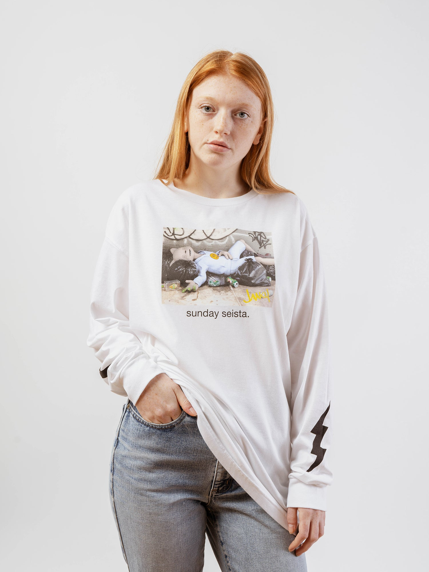 "Sunday ""Seista"" White Long Sleeve - Unisex [SHIPS MAY 2020]"