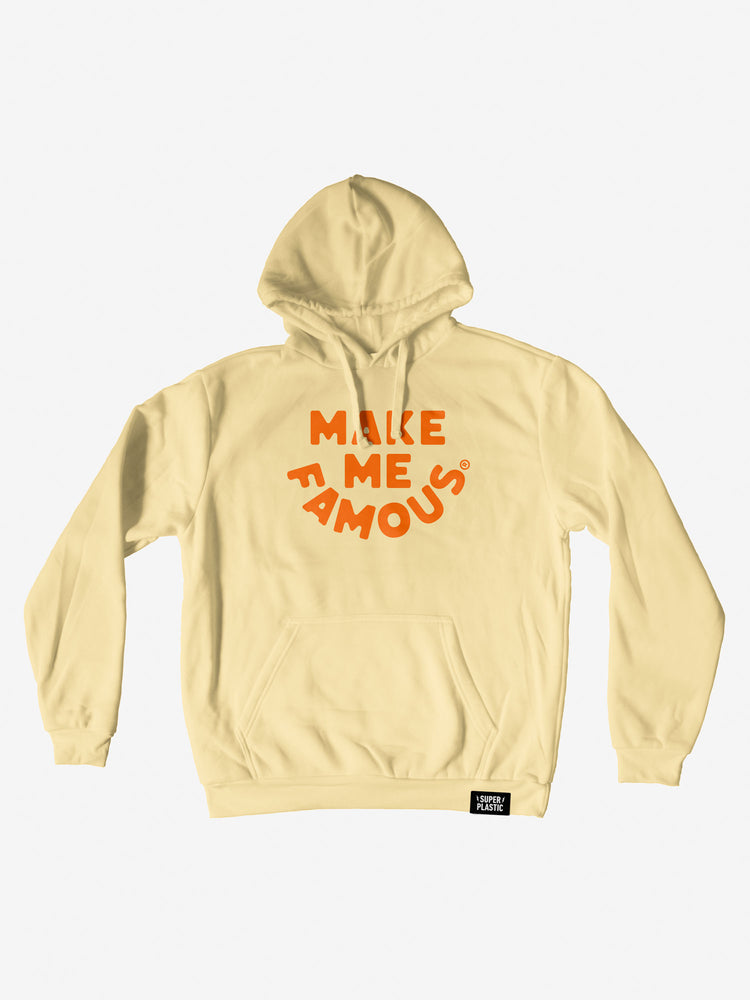 """Make Me Famous"" Citrus Yellow Hoodie - Unisex"