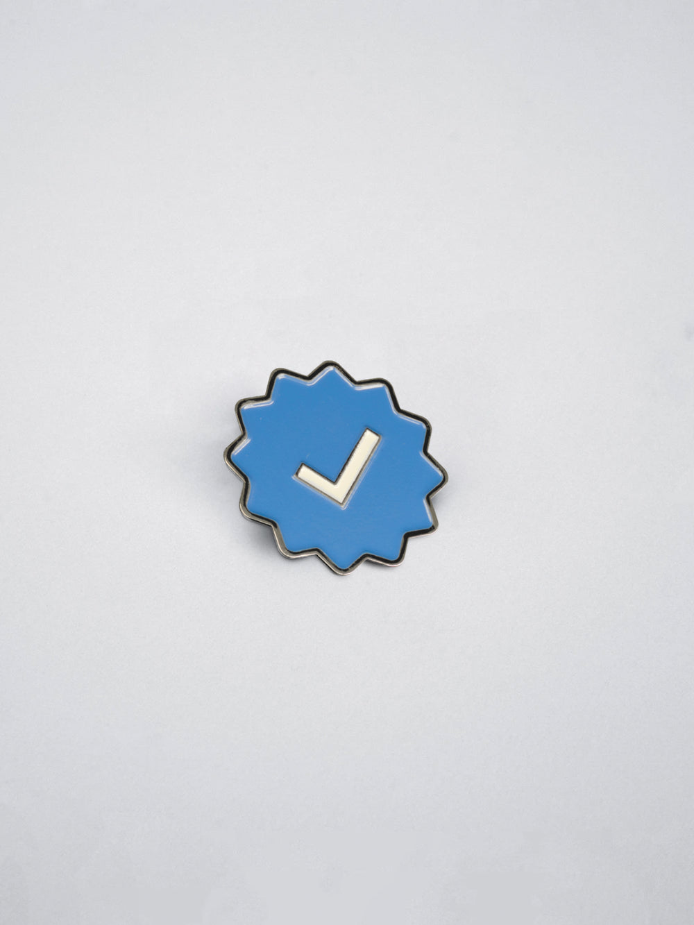 Blue Check Mark Enamel Pin