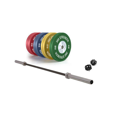 160kg Premium Competition Bumper and Bar Package