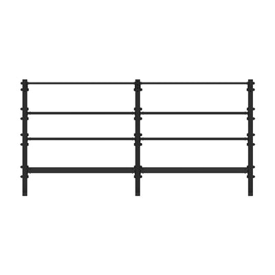 1RM Double Tall Double Storage Rack w. Hooks - Pack 1