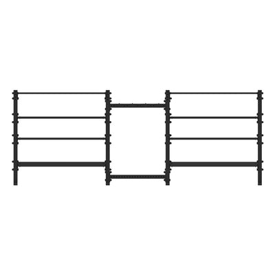 1RM Double Tall Double Storage Rack w. Hooks - Pack 2