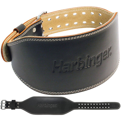 Harbinger Men's 6 inch Padded Leather Lifting Belt