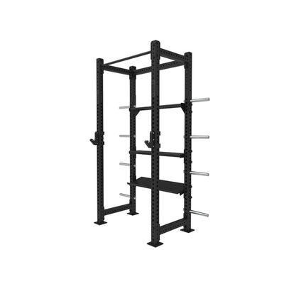 1RM Compact Single Free Standing Double Sided Rig with Storage Shelves