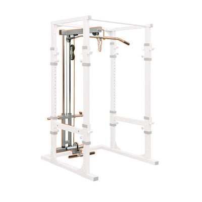 Impulse Light Commercial Power Rack with Lat pulldown