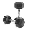 10kg Rubber Hex Dumbbell PAIR