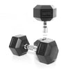 12.5kg Rubber Hex Dumbbell PAIR