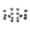 12.5-20kg Rubber Hex Dumbbell Set