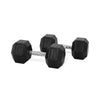 22.5kg Rubber Hex Dumbbell PAIR