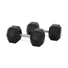 30kg Rubber Hex Dumbbell PAIR