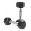 3kg Rubber Hex Dumbbell PAIR
