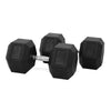 50kg Rubber Hex Dumbbell PAIR