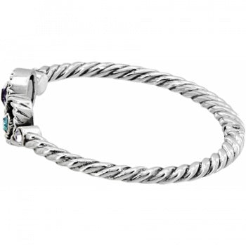 Halo Hinged Bangle