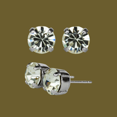 Mariana stud Earrings (SE42) CLEAR ICE