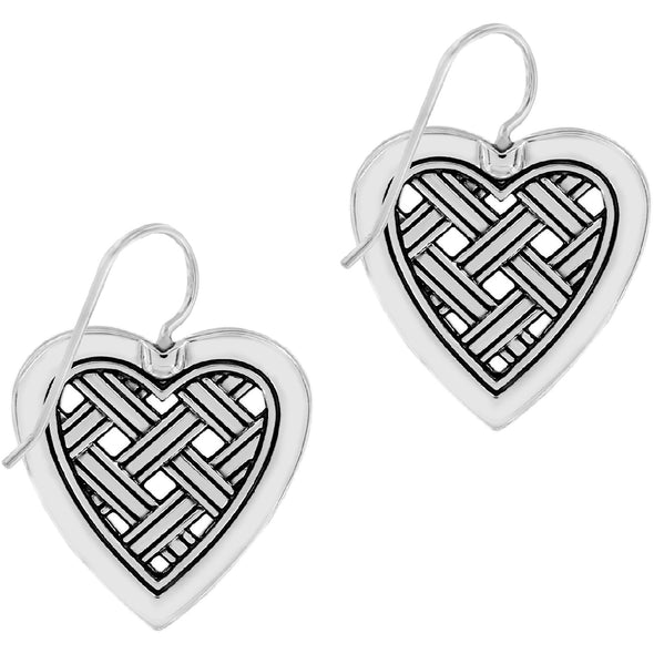 Love Cage Heart French Wire Earrings