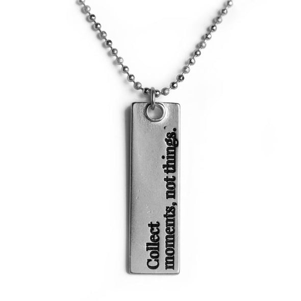 Collect Moments Not Things Bar Necklace
