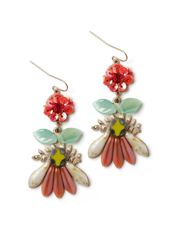Floral Glitz  Elements Earrings