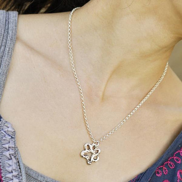 Island Cowgirl Paw Print Necklace