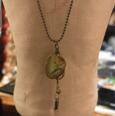J Parkes Agate Slice Necklace (3)