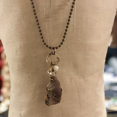 J Parkes Agate Slice Necklace (5)