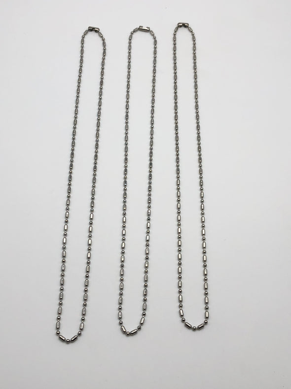 J. Parkes Ltd., Stainless Steel  Link Ball Chain Necklace, [product, type], J. Parkes Ltd.