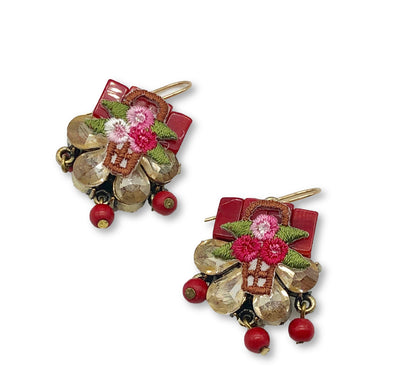 Elements Floral Basket Earrings