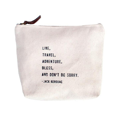 Live Travel Adventure Canvas Pouch