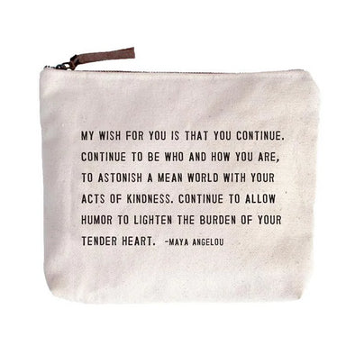 My Wish For You Canvas Pouch