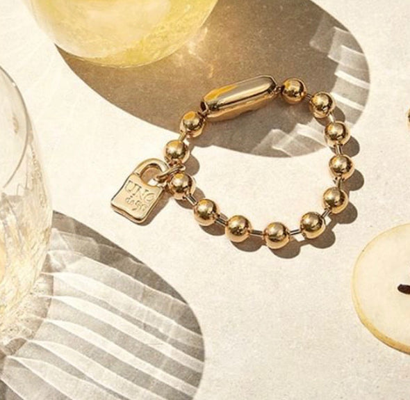 UNOde50 Large Gold Ball Chain Bracelet