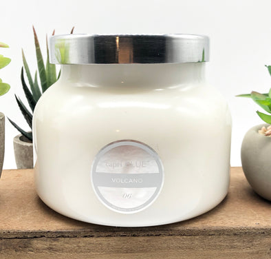 Clean White Volcano Candle