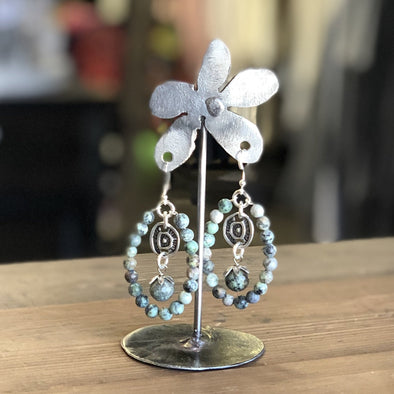 J Parkes Mexican Turquoise Earrings