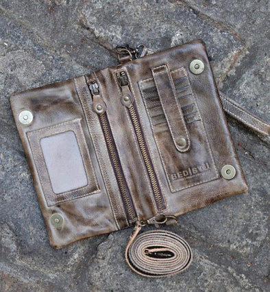 Taupe Rustic Cadence Crossbody/Wallet